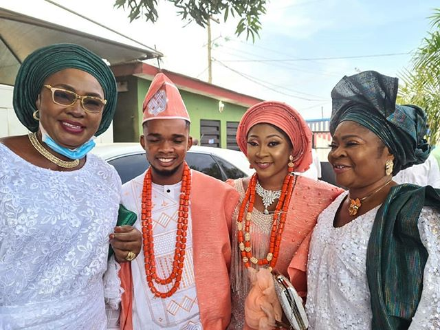 Salawa Abeni's second daughter Aishat weds lover