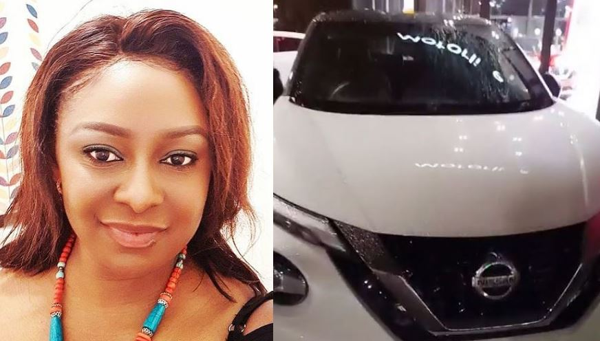 Veteran Actress Victoria Inyama gift herself a brand new car on birthday