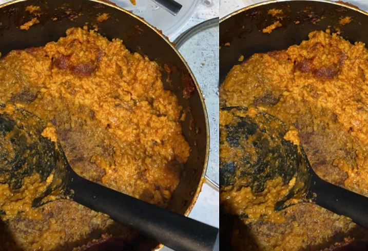 Cooking gone wrong: Nigerian Man Attempts Jollof rice and got this