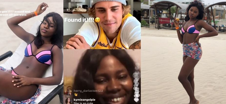 Unilag female student cries during Instagram live video with Justin Bieber