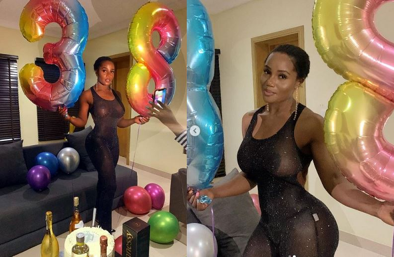 Born Again Nudist, Maheeda goes braless on 38th birthday