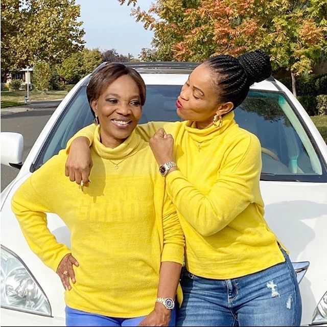 Georgina Onuoha, mother and two daughters slay in matching outfit