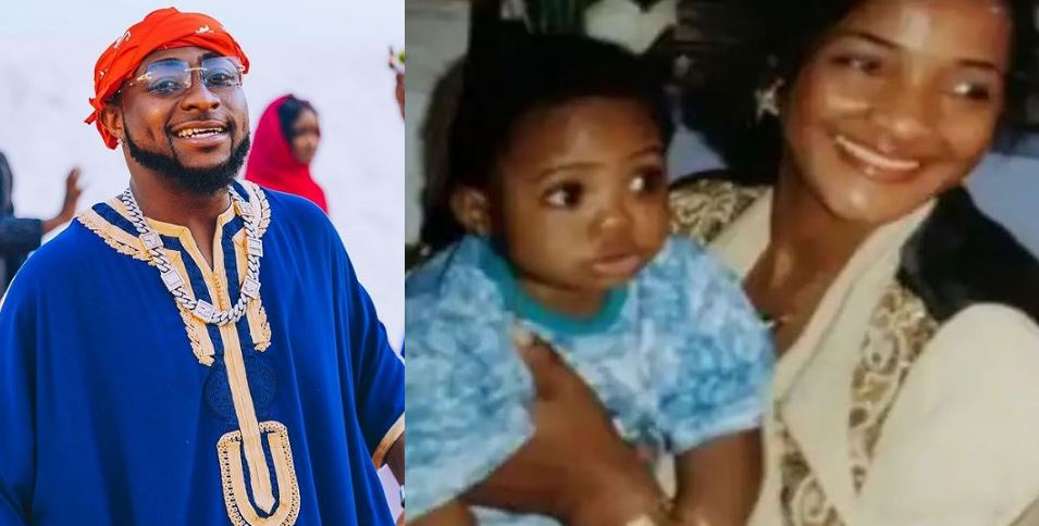 Davido celebrates his mother Veronica Adeleke birthday with lovely childhood photo