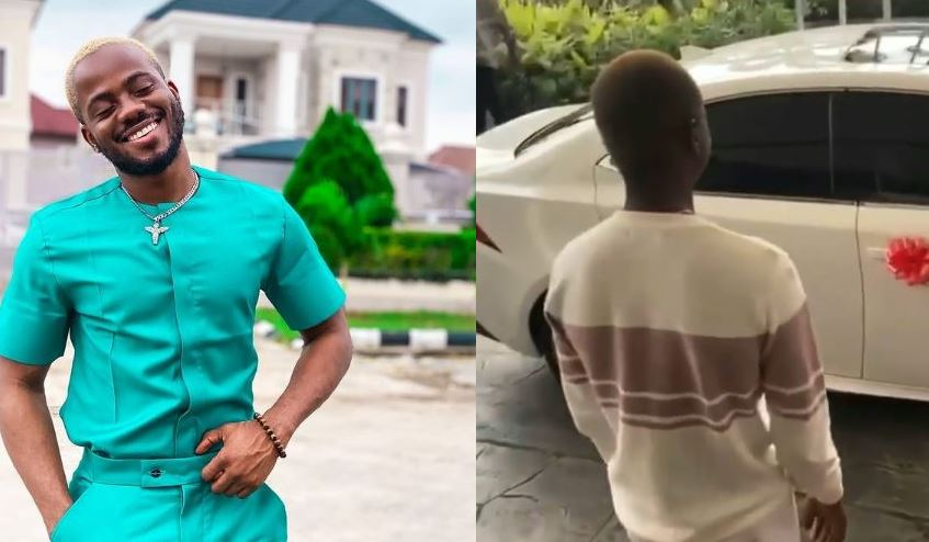 Watch the moment korede bello gifts his manager a new car