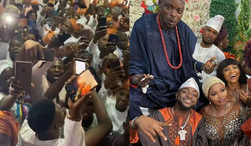 Video: Davido storms his driver's wedding as best man