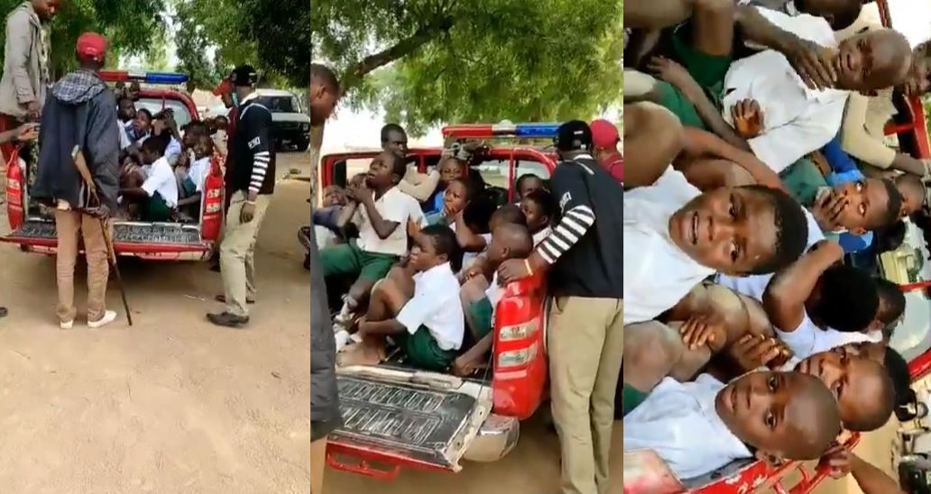 School children arrested by Amotekun for behaving like Naira Marley (video)
