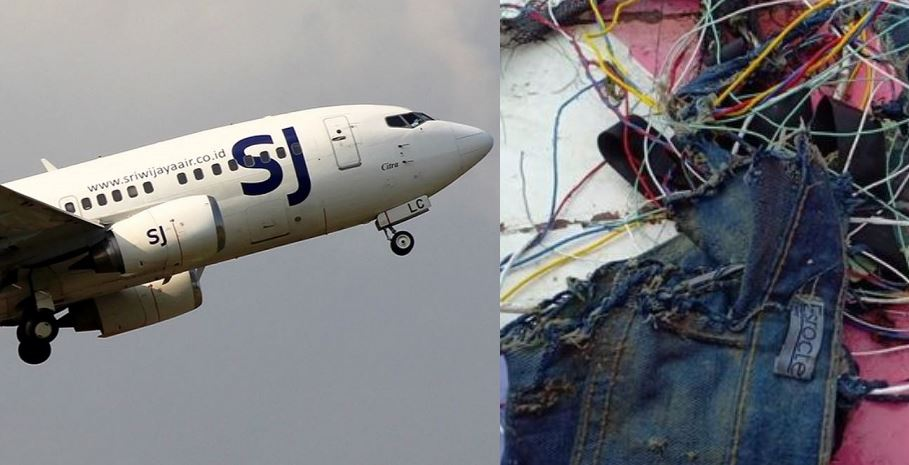 Suspected crash debris of missing Indonesia sriwijaya air boeing 737 (Photos)