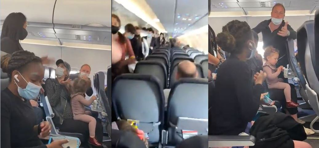 Video: Spirit airlines flight attendant kicking off family after two-year-old child refused to wear a mask sparks Twitter reactions