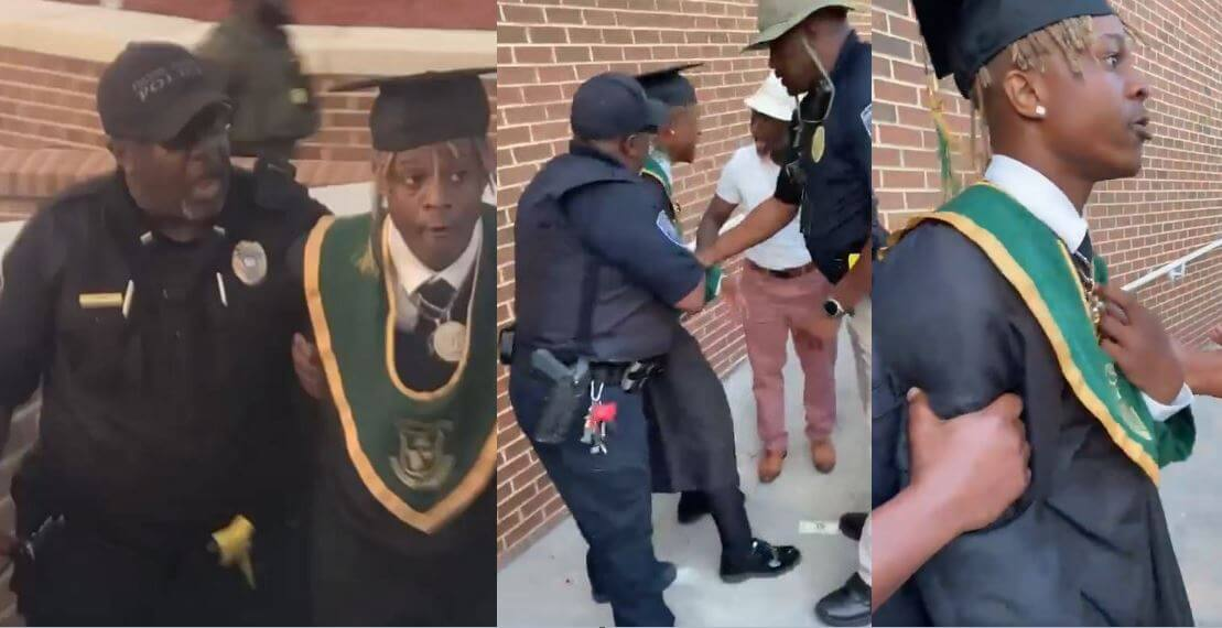 Watch the moment Metro Marrs was arrested after throwing $10k at Langston Hughes High School graduation