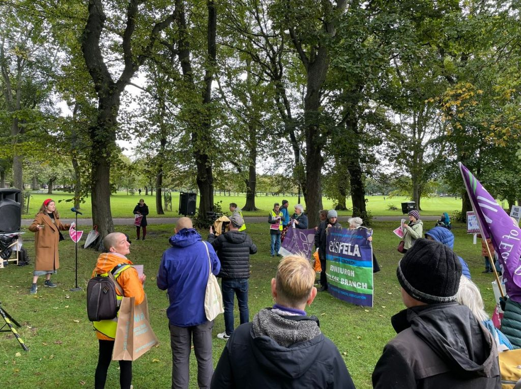 Rally for Abortion Justice in Edinburgh
